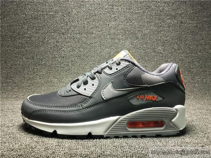 Men's Nike Air Max 90 Print Max90 Original Running Shoes Breathable  749817-018 Gray #