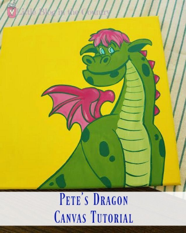 Pete's Dragon Canvas Painting Tutorial