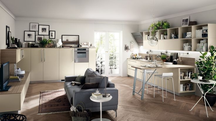 Feel kuchyň s obývacím pokojem, inspirace pro kuchyně / multifunctional living space (kitchen with living room)
