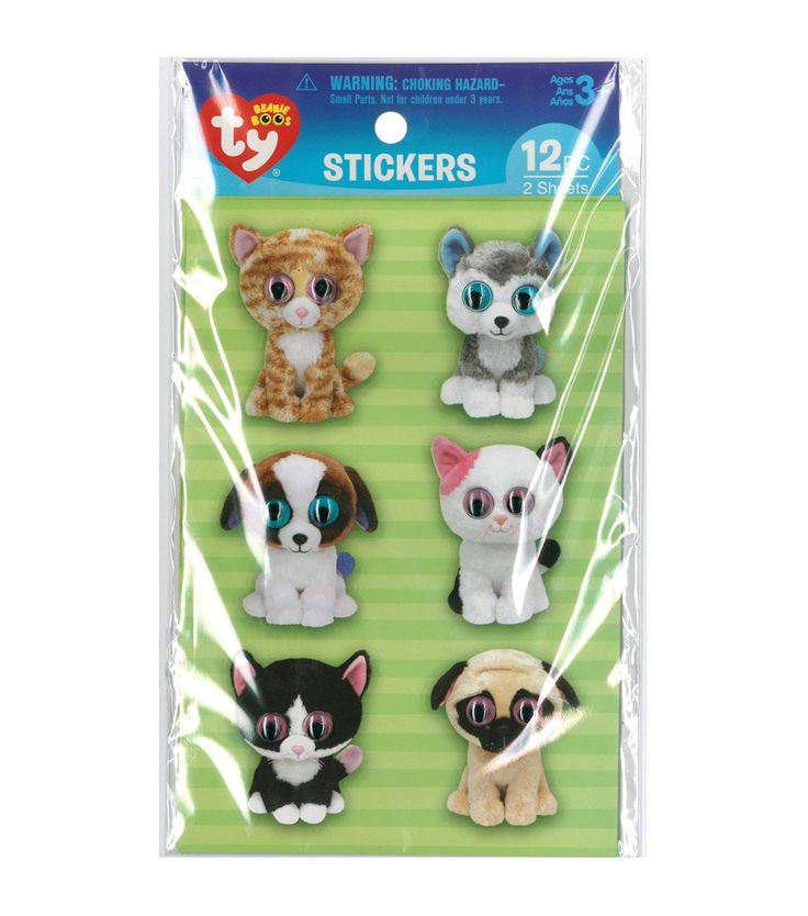 The cute and fun Darice Beanie Boo 12pcs Wiggle Eye Stickers-Pet are perfect for any craft or paper project. You can pick from the colorful assortment of themed stickers and use them on paper or other