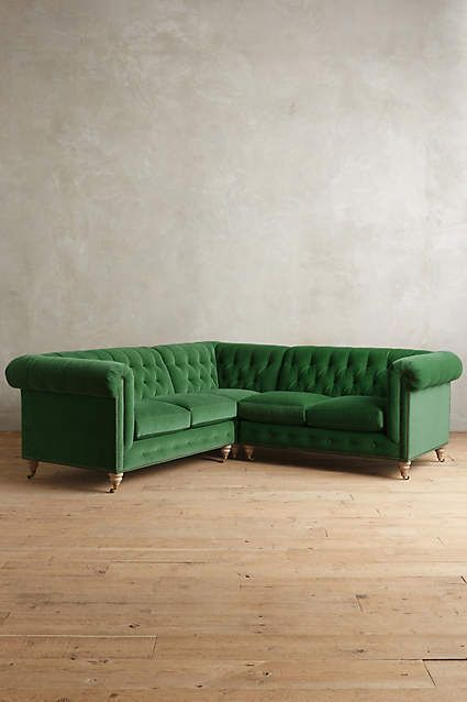 Velvet Lyre Chesterfield Sectional, Wilcox