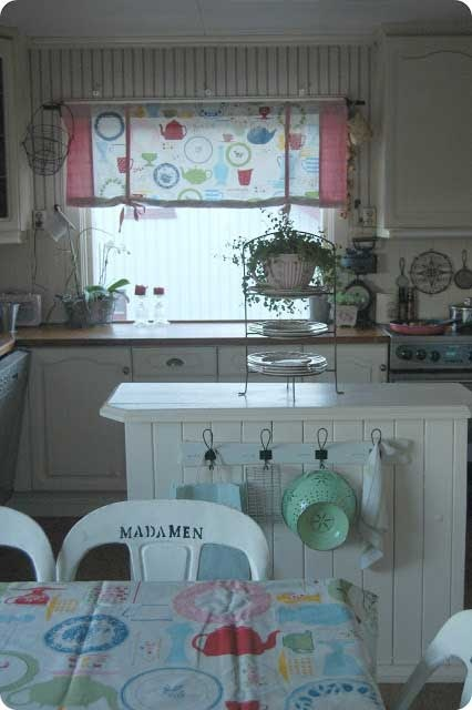 Romantic retro kitchen home decor kitchens pinterest retro kitchens and plate racks - Coupon for home decorators decoration ...