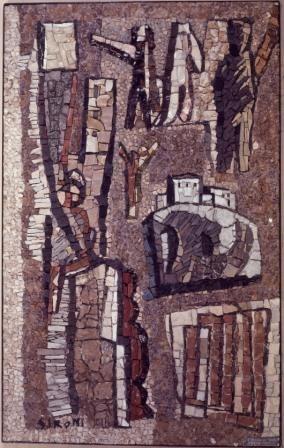 """Mosaico di Mario Sironi, Museo di Arte Moderna """"Mario Rimoldi"""""""