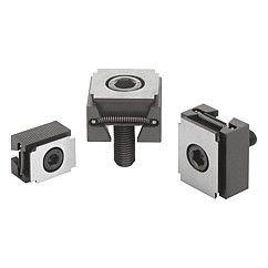 Mors de serrage, surfaces de bridage lisses ou striées -  Taper clamps clamping surfaces smooth or serrated - 04524