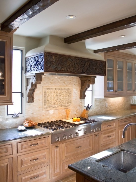Mediterranean Hacienda Kitchen Vent A Hood Is So Pretty
