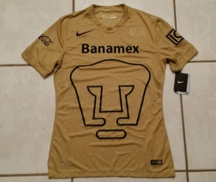 NWT Authentic NIKE Pumas Unam Mexico  GOLD Soccer Jersey Men's Medium  #Nike #PumasUnam