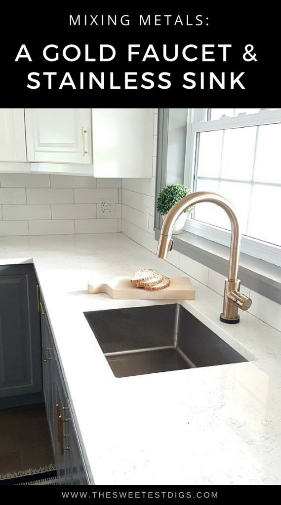 Fixing My Design Mistake With A Gold Kitchen Faucet By Delta Gold Kitchen Faucet Gold Kitchen Best Kitchen Faucets