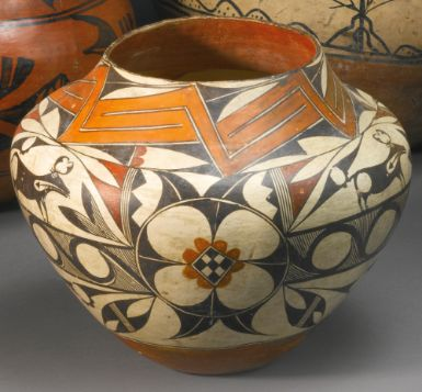 Acoma Polychrome Pictorial Jar