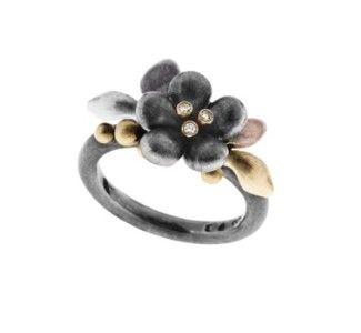 Ole Lynggaard Flower Ring Yellow Gold A1789-302