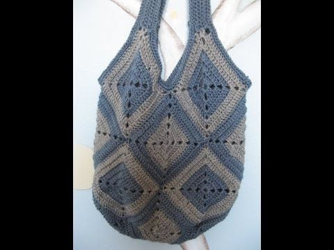 Ingas #crochet bag - This is a great looking bag, the video tutorial is easy to understand and follow along.   I love the colors