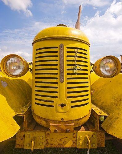 Tracteur jaune, un air d'insecte non? :)