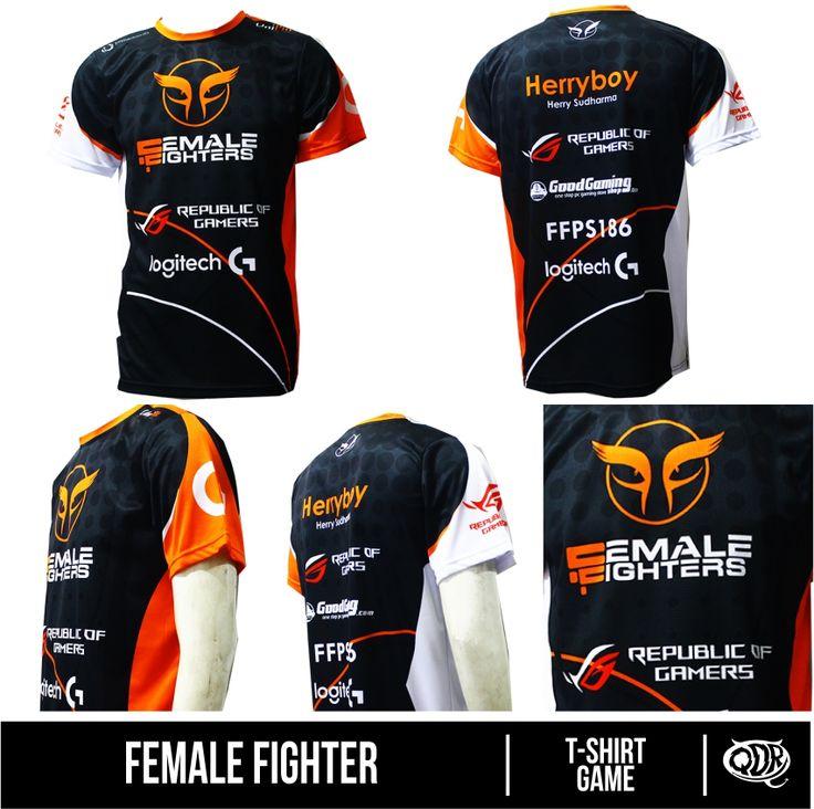 Female FIghter Bahan : Dry FIt Printing: Sublimation  Model: T-shirt Game Bahan dan Pola yang nyaman dipakai sehari hari, motif dan hasil printing yang tajam, cerah dan tidak luntur.  Fast respon  WA/Sms no call: 081222970120  PIN BB : D5443117