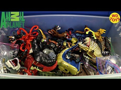 New Giant Box Dinosaur Surprise Toys Jurassic Park, Jurassic World, Animal Planet Unboxing top 10 - YouTube