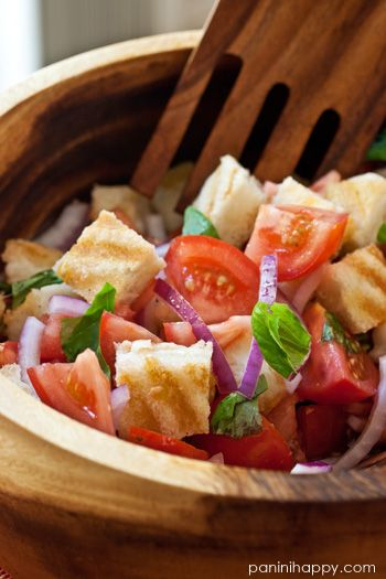 Grilled Cheese Panzanella Salad...get the recipe on www.paninihappy.com