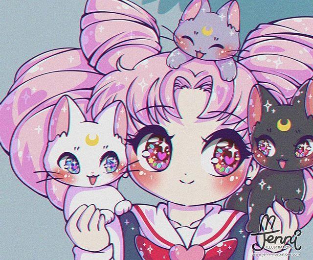 J E N N I Jennillustrations Foto I Video V Instagram In 2020 Sailor Moon Art Sailor Moon Cat Sailor Mini Moon