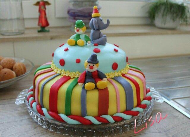 Fondant Torte - Amelies Geburtstag - Motto : Clown