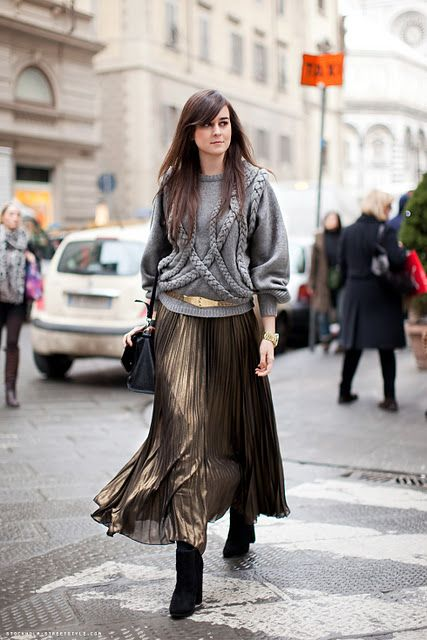 South Molton St Style: Primark Gold Maxi Skirt