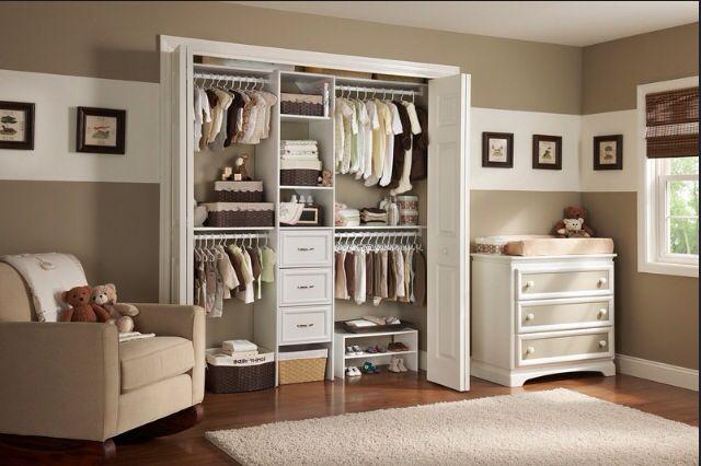 Baby organized closet