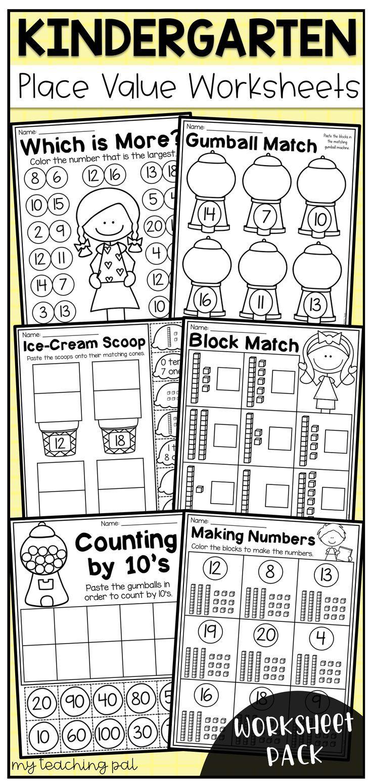 Kindergarten Place Value Worksheets Place Value Worksheets Place Values Kindergarten Worksheets [ 1552 x 736 Pixel ]
