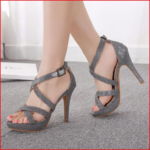 Pas cher mode sexy 2014 bride cheville sandales femmes plateforme 11cm sandales à talons hauts parti dames chaussures habillées sandales avec des paillettes, Acheter  Sandales de qualité directement des fournisseurs de Chine:   avis:veuillez vérifier votre taille avant vous commandez!bienvenue à l'expédition des s