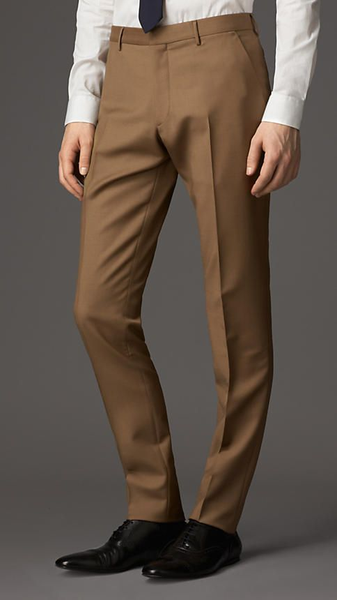 Burberry London Slim Fit Wool Mohair Trousers  My man will wear these
