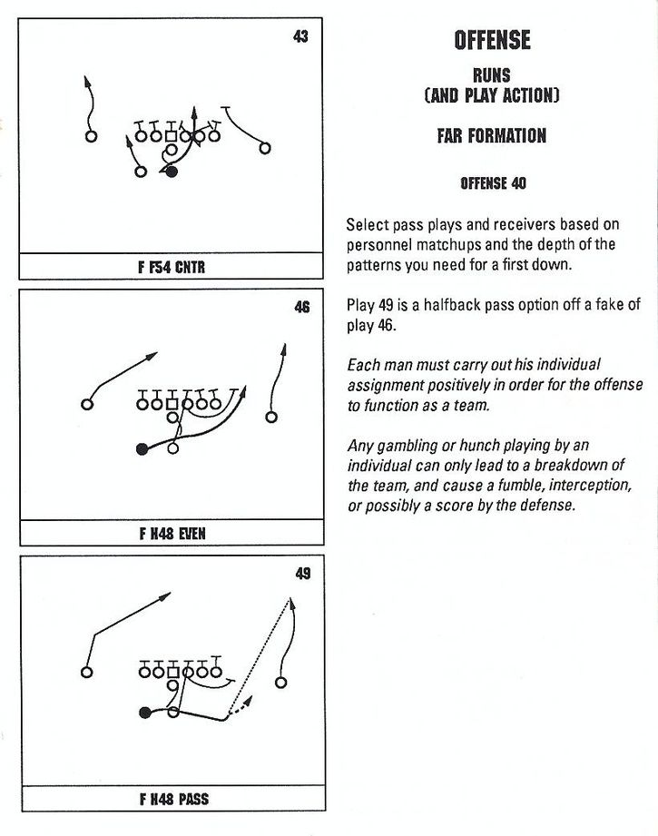 John Madden Football Offensive Playbook Page 9 Football Drills