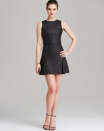 Parker Dress - Tegan Leather - Black 1