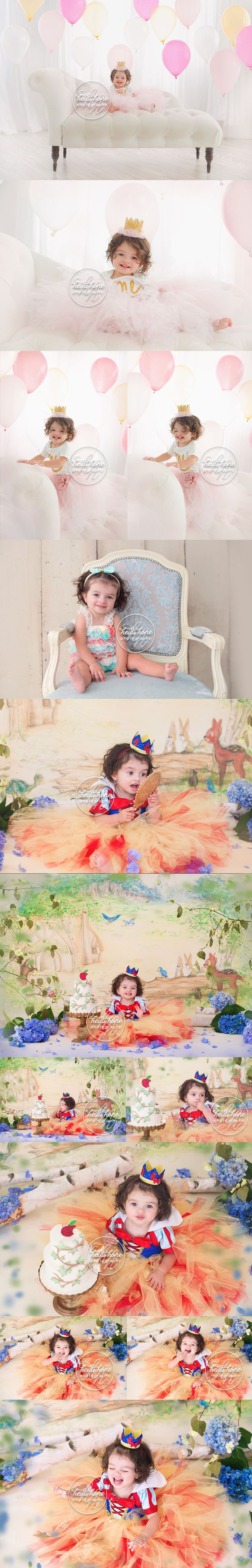 Have to pin this one!  One of my favorite sets for a perfect little snow white.  #cakesmash #birthday a-disney-snow-white-themed-first-birthday-cakesmash-set-for-a-princess