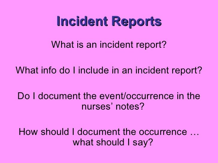 The  Best Incident Report Ideas On   Incident Report