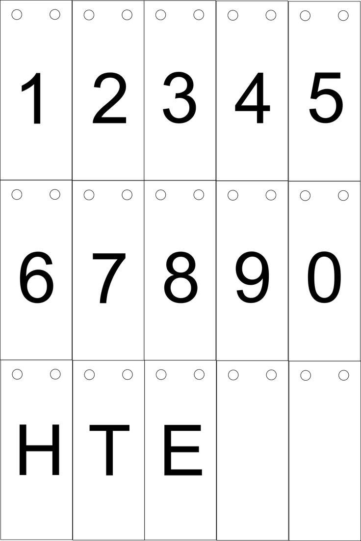 Gevonden op Pinterest met dank aan Special Needs 4 Kids (op Twitter) Hier een printexemplaar. De cijfers voor een klikklakboekje. Even plastificeren en wat lastig knipwerk. Ziet er daarna perfect uit!
