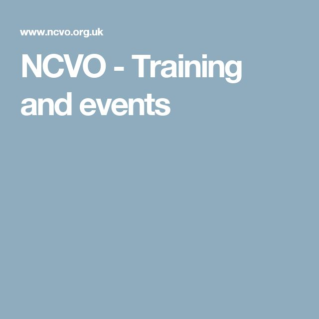 NCVO - Training and events