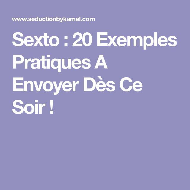 Sexto : 20 Exemples Pratiques A Envoyer Dès Ce Soir !