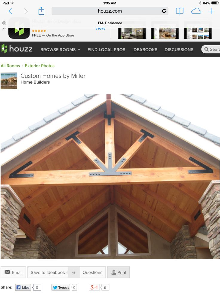 Brackets And Gable Beams Wrong Color Gable Roof Design
