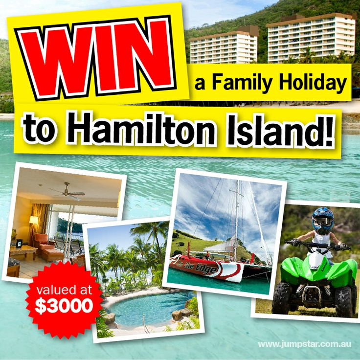 Win an amazing $3000 holiday! Enter here:   http://www.jumpstartrampolines.com.au/win-ezp-13.html