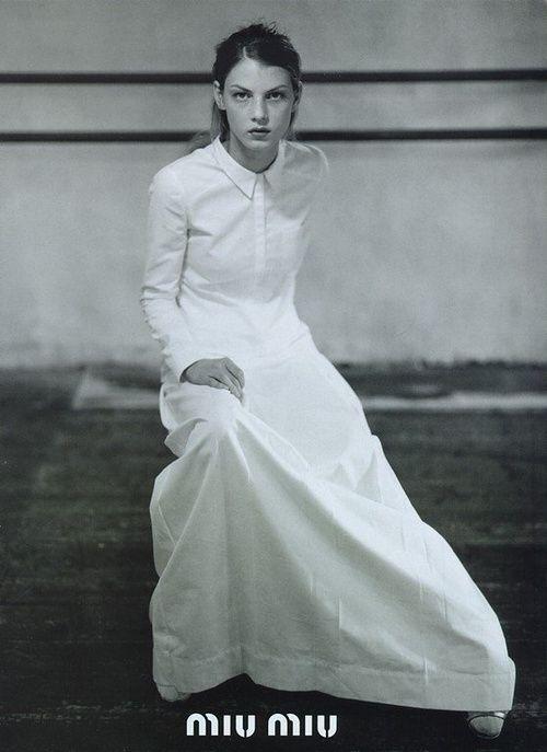 Angela Lindvall by Glen Luchford for Miu Miu S/S1997