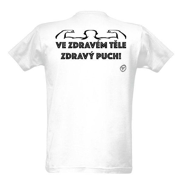 Tričko s potiskem Zdravé tělo, fitness, gym, posilování, bodybuilding,