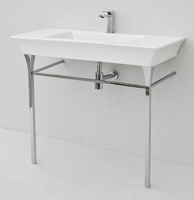 Jazz, design Meneghello #bagno #bathroom #design #decor #white #sanitaryware #Artceram wall-hung/countertop consolle