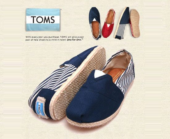 Navy University Rope Sole Classics TOMS Shoes Sale