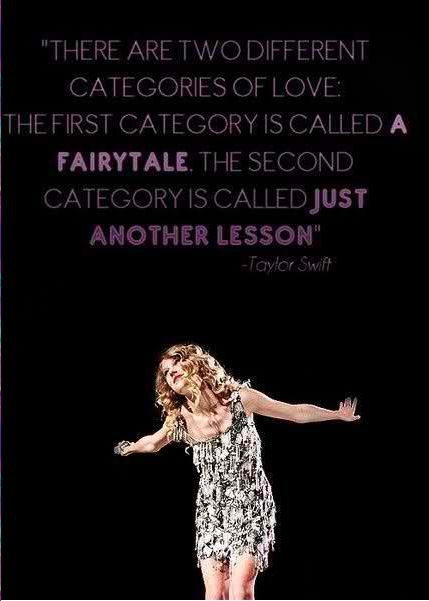 True one can be a fairy tale and the other a lesson