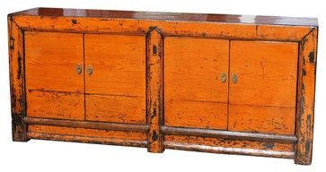 Chinese Reproduction Vintage Painted Cider Buffet asian-buffets-and-sideboards, Need a vintage buffet. Love this shabby, Asian look