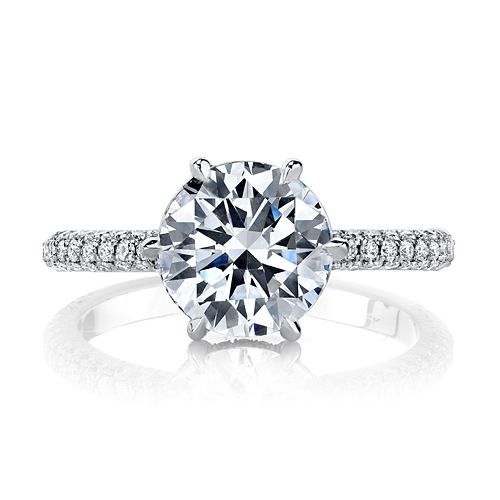 Aria Three Rows Is A Clic Six G Engagement Ring With Diamond Band Designed By