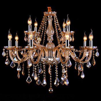Ouro do Candelabro de Cristal Para Casa Para Sala de Estar Sala de Jantar Lâmpada Lustre Moderno Lustre de Cristal de Luz Interior 110 V-220 V