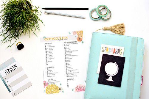 INGYEN letölthető nyomtatható csomagolólista, csodaszép grafikával tervezőnaptárba, plannerve! Personal és A5-ös méretben is!