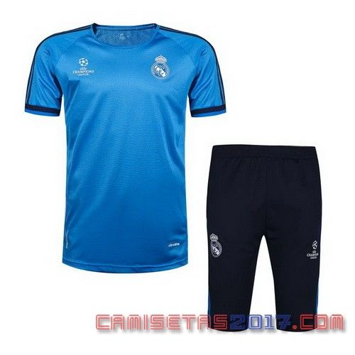 camiseta entrenamiento Real Madrid 2016 2017 azul
