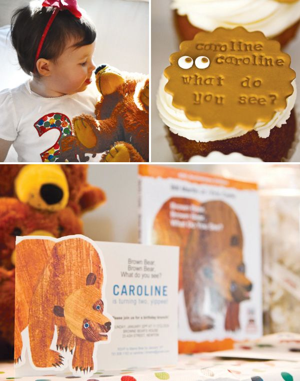 Brown Bear Birthday Party: This might be one of the cutest birthday party ideas for a little girl that I've ever seen!