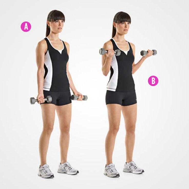 Standing Dumbbell Bicep Curls