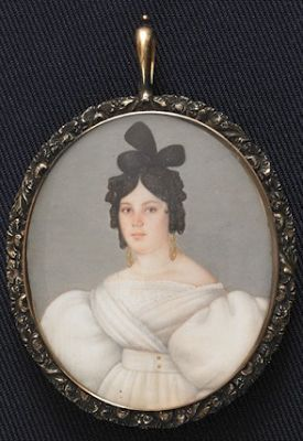 Ivory Portrait of a Woman circa 1830:
