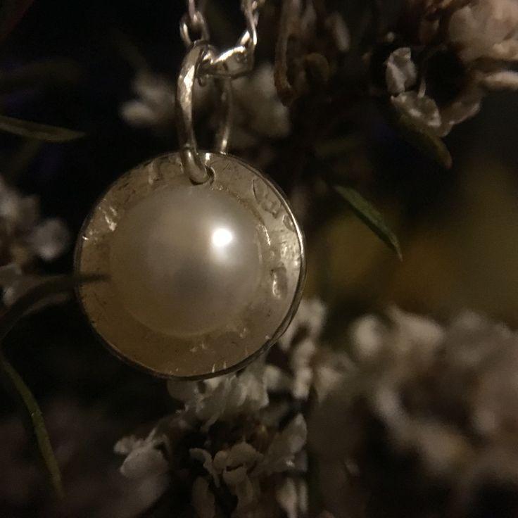 The sweetest miniature pearl pendant.  www.silverbykat.com