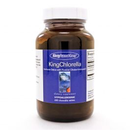 KingChlorella combines freshwater-grown Chlorella pyrenoidosa with Lactobacillus rhamnosus lysate powder (Russian Choice Immune®). The chlorella's cell walls are fractured with a unique process to make the nutrient content more available without damaging it. Chlorella is high in protein, beta carotene, and nucleic acids.
