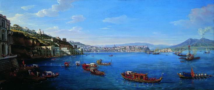 Posillipo with the Palazzo Donn'Anna ; Artist: Gaspar van Wittel (known as Gaspare Vanvitelli) ; Year: About 1700 - 1702